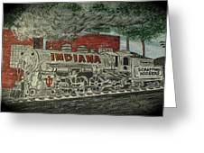 Scrapping Hoosiers Indiana Monon Train Greeting Card