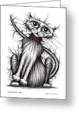 Scratchy Cat Greeting Card