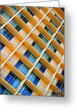 Scratchy Hotel Facade Greeting Card