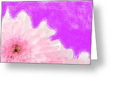 Scream And Shout Pink White Purple Greeting Card