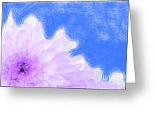 Scream And Shout Purple White Blue Greeting Card