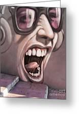 Screamer Greeting Card by Gillian Singleton
