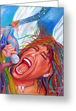 Screamin Angel Greeting Card