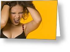 Screaming Girl Greeting Card