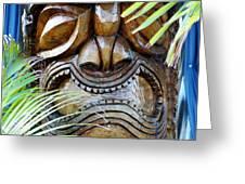 Screaming Tiki  Greeting Card