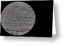 Screen Orb-06 Greeting Card