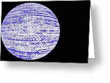Screen Orb-09 Greeting Card