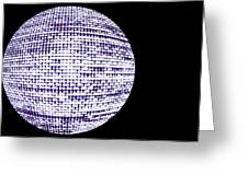 Screen Orb-12 Greeting Card