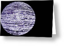 Screen Orb-15 Greeting Card