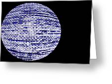 Screen Orb-18 Greeting Card