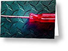 Screwdriver C Greeting Card
