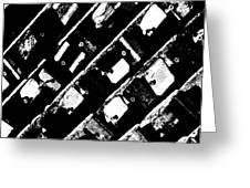 Screwed Metal Tab Abstract Greeting Card