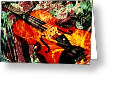Scribbled Fiddle Greeting Card