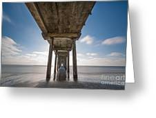Scripps Pier Long Exposure Greeting Card