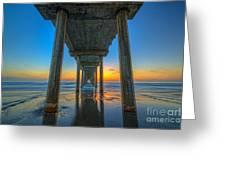 Scripps Pier Sunset Greeting Card