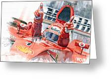 Scuderia Ferrari Marlboro F 2001 Ferrari 050 M Schumacher  Greeting Card by Yuriy  Shevchuk