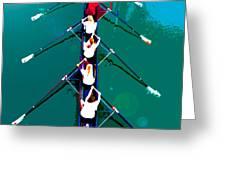 Rowing In The Sun Greeting Card