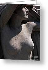 Sculpture Of Angelic Female Body Greeting Card