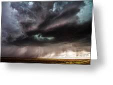 Sculpture - Turquoise Colored Storm Over Kansas Plains Greeting Card