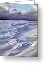 1m9347-sculptured Snow And Grand Teton Greeting Card