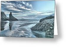 Sculptures On The Shore Greeting Card