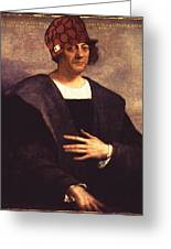 Scumbag Columbus Greeting Card