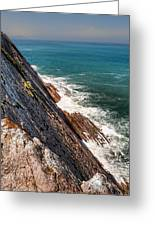 Sea And Cliff Greeting Card