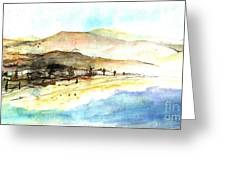 Sea And Mountains Greeting Card