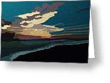 Sea And Sky In Colour Greeting Card