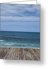 Sea And Wooden Platform Greeting Card