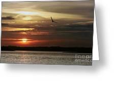 Sea Bright Sunset Greeting Card