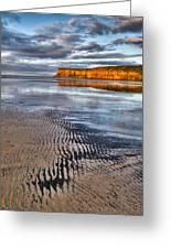 Sea Coal Saltburn Sunset Greeting Card