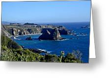 Sea Coast Of Northern California Greeting Card