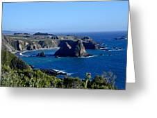 Sea Coast Of Northern California Greeting Card