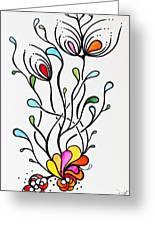 Sea Flowers Greeting Card by Carolyn Weir