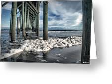 Sea Foam And Pier Greeting Card