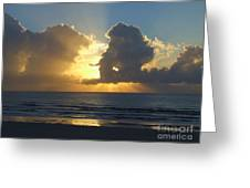 Sea Island Sun Rays Greeting Card