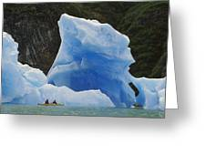 Sea Kayaking With Icebergs Tracy Arm Greeting Card