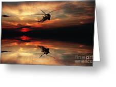 Sea King Sunset  Greeting Card