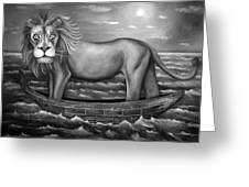 Sea Lion In Bw Greeting Card