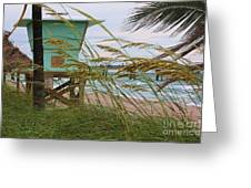 Sea Oats And The Tower Greeting Card