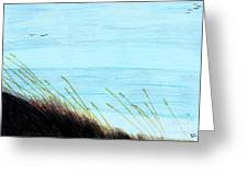 Sea Oats In The Wind Drawing Greeting Card