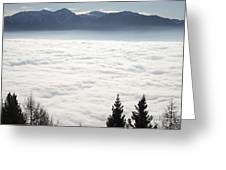 Sea Of Fog And Alps Greeting Card