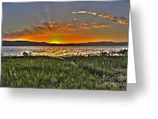 Sea Of Galilee Sunset Greeting Card