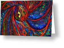 Sea Of Peacock Greeting Card