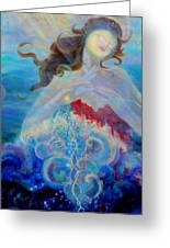 Sea Of The Soul Figure Detail Greeting Card