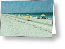 Sea Of Umbrellas Greeting Card