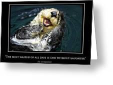 Sea Otter Motivational  Greeting Card
