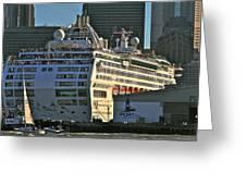 Sea Princess At Pier 29 San Francisco Greeting Card