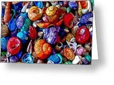 Sea Shell Abstract Greeting Card